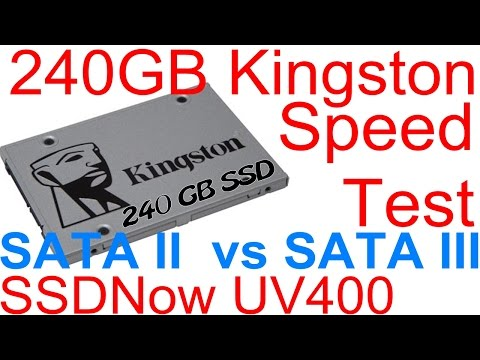 redigitt #142 240GB Kingston SSDNow UV400 SATA II vs SATA III Speed Test