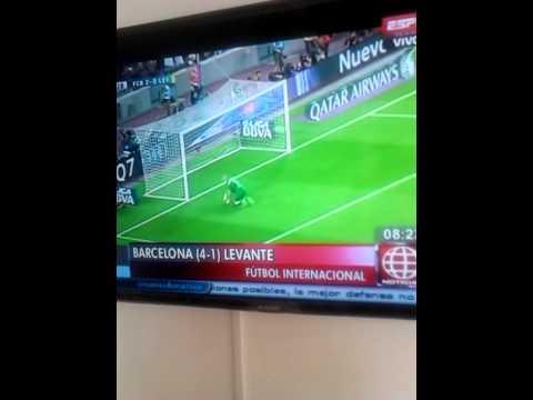 Barcelona 4 - levante 1 resumen de Goles #ligaBbva