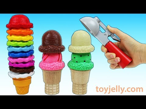 Best Learn Colors Video Ice Cream Cones Playset Surprise Toys Nursery Rhymes for Kids Baby Songs