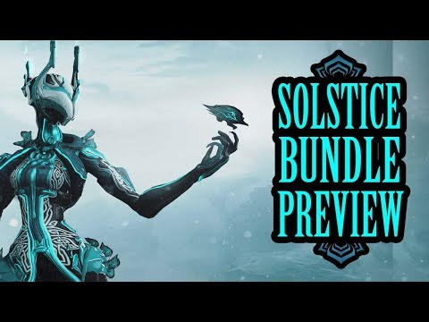 Warframe - Winter Solstice Skin Bundle Preview