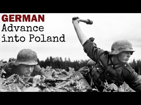 German Advance into Poland | 1939 | Captured German Film | World War 2 Documentary