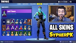 SypherPK Shows ALL FORTNITE SKINS In His Locker (Rare Skins) | Fortnite Daily Funny Moments Ep.341