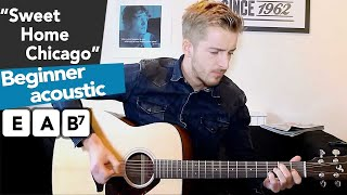 Sweet Home Chicago   Beginners Blues Guitar Lesson (how to play) easy beginner guitar songs