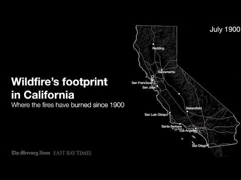 California Wildfires Since 1900