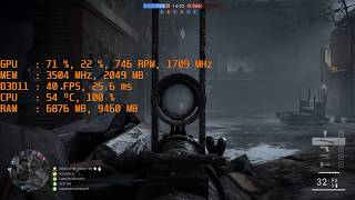 Cheapy PSU Effect on Battlefield 1 (Unstable FPS) (Low Gpu Usage)