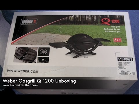 weber gasgrill q 1200 unboxing youtube. Black Bedroom Furniture Sets. Home Design Ideas