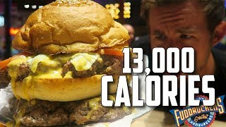 MASSIVE DOUBLE FUDDRUCKERS BURGER CHALLENGE | 13,000+ CALORIES