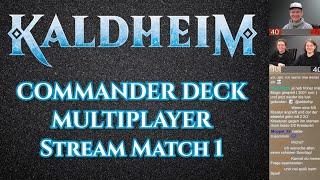 MTG Kaldheim | Commander Multiplayer Match 18 | Magic the Gathering deutsch | Trader Tutorial Duell