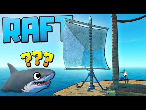 UPGRADING OUR RAFT TO AN AMAZING SAILING SHIP! - Let's Play Raft Game / Raft Gameplay