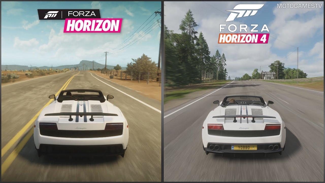 Forza Horizon vs Forza Horizon 4 - Lamborghini Gallardo LP570-4 Spyder  Performante Sound Comparison