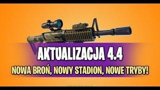 Fortnite update 4.4 Nowe tryby , nowa bron ,nowy stadion