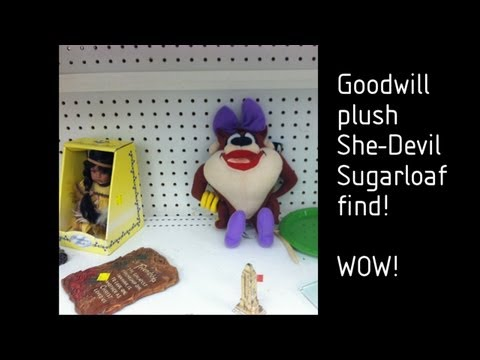 Goodwill store plush Looney Tunes She-Devil find