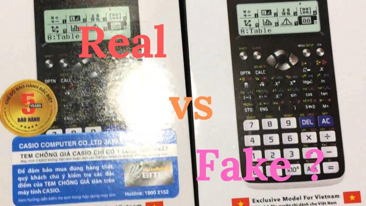 Phân Biệt Máy Tính Casio 580 VNX Thật và Giả (Fake)