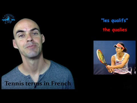 Tennis terms in French