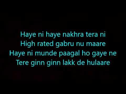 High Rated Gabru Lyrics Nawabzaade