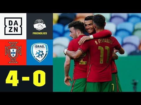 Portugal schießt sich in Form! CR7 und Fernandes treffen: Portugal - Israel 4:0   Friendlies   DAZN