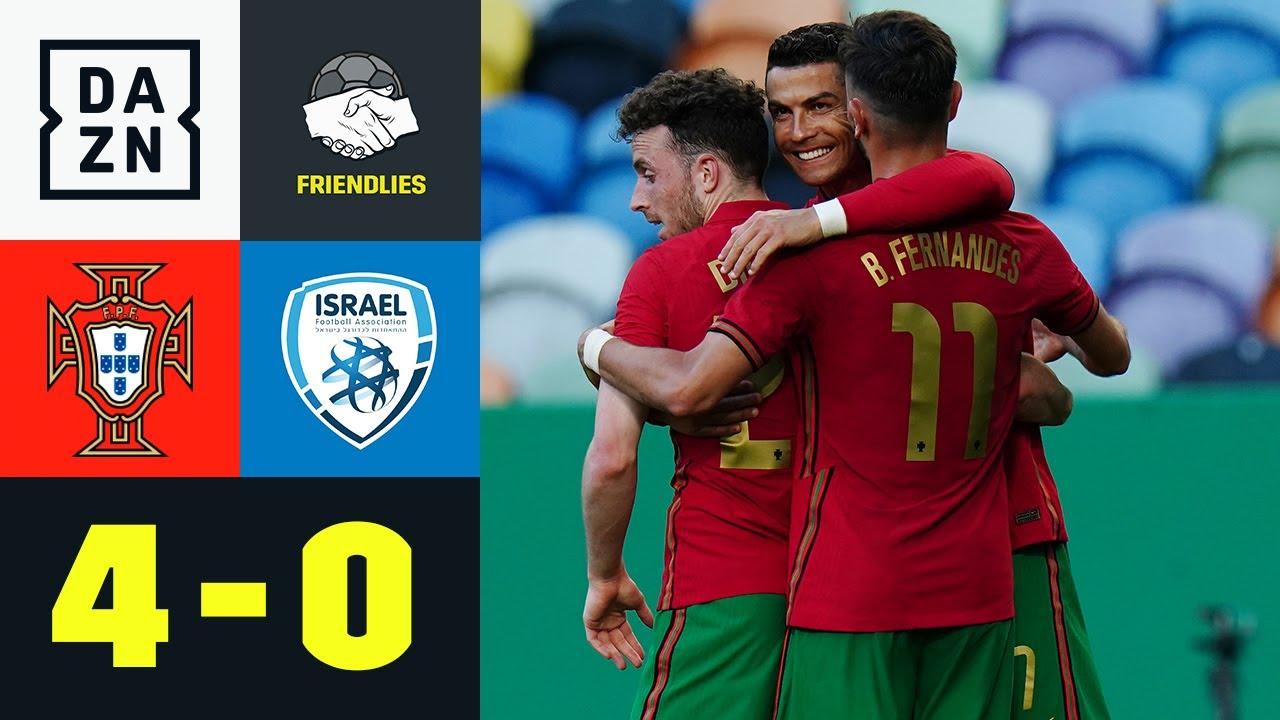 Portugal schießt sich in Form! CR7 und Fernandes treffen: Portugal - Israel 4:0 | Friendlies | DAZN