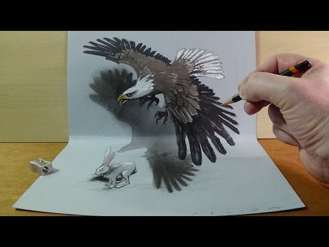 Art in 3D, Drawing a Hunting Eagle