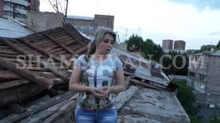 Երևանում ուժեղ քամու և փոթորկի հետևանքով շենքերի տանիքներ են խարխլվել
