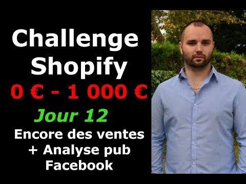 (Jour 12) SHOPIFY CHALLENGE : Encore des ventes ! + Analyse pub Facebook