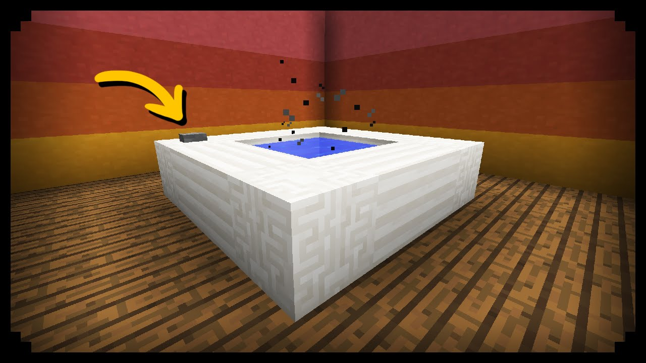 ✓ Minecraft: How to make a Working Hot Tub - YouTube