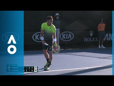 Paolo Lorenzi v Damir Dzumhur match highlights (1R)   Australian Open 2018