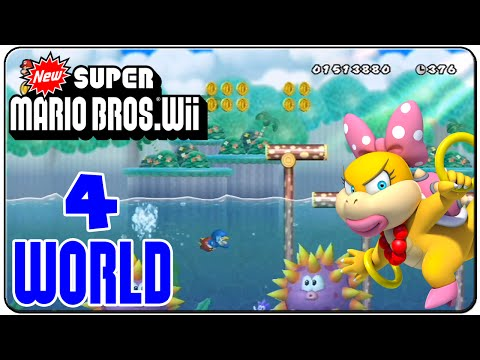 New Super Mario Bros. Wii 100% Walkthrough World 4