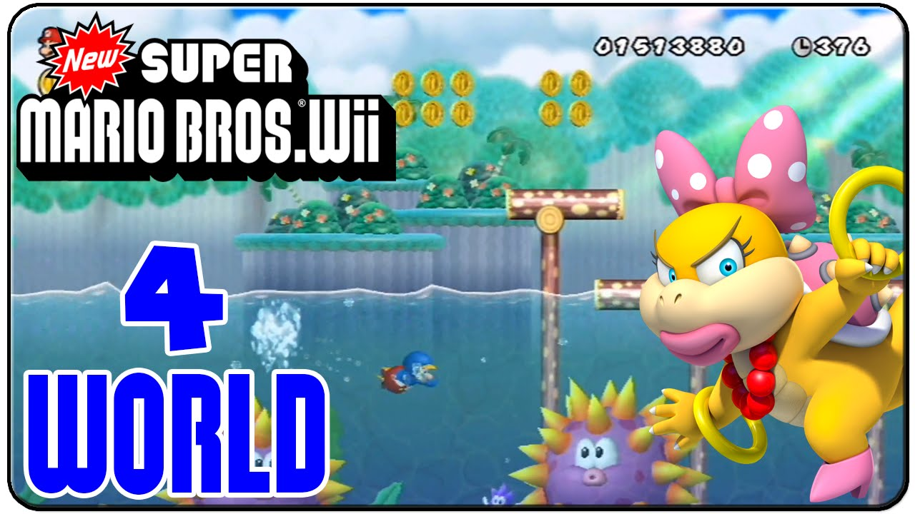 New Super Mario Bros Wii 100 Walkthrough World 4 Youtube