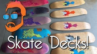 Painting Skateboard Art Decks - Mad Artisan's Lab