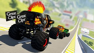 Monster Truck Crashes #6 - Beamng drive
