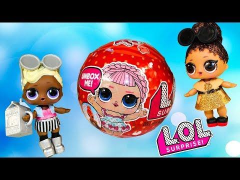 Куклы ЛОЛ Видео для детей Игрушки ЛОЛ сюрприз КРАСНЫЙ ШАР Мультики про куклы LOL Surprise dolls