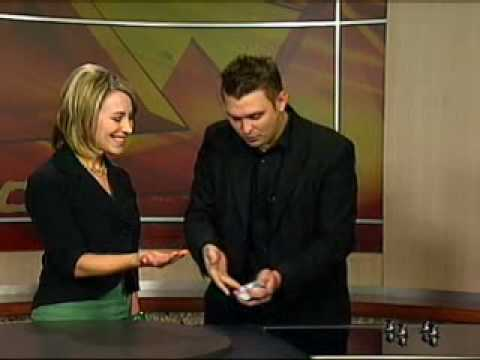 1 of 3 - Ed Clarke performing Close up magic live on kolo8 tv in Reno nevada