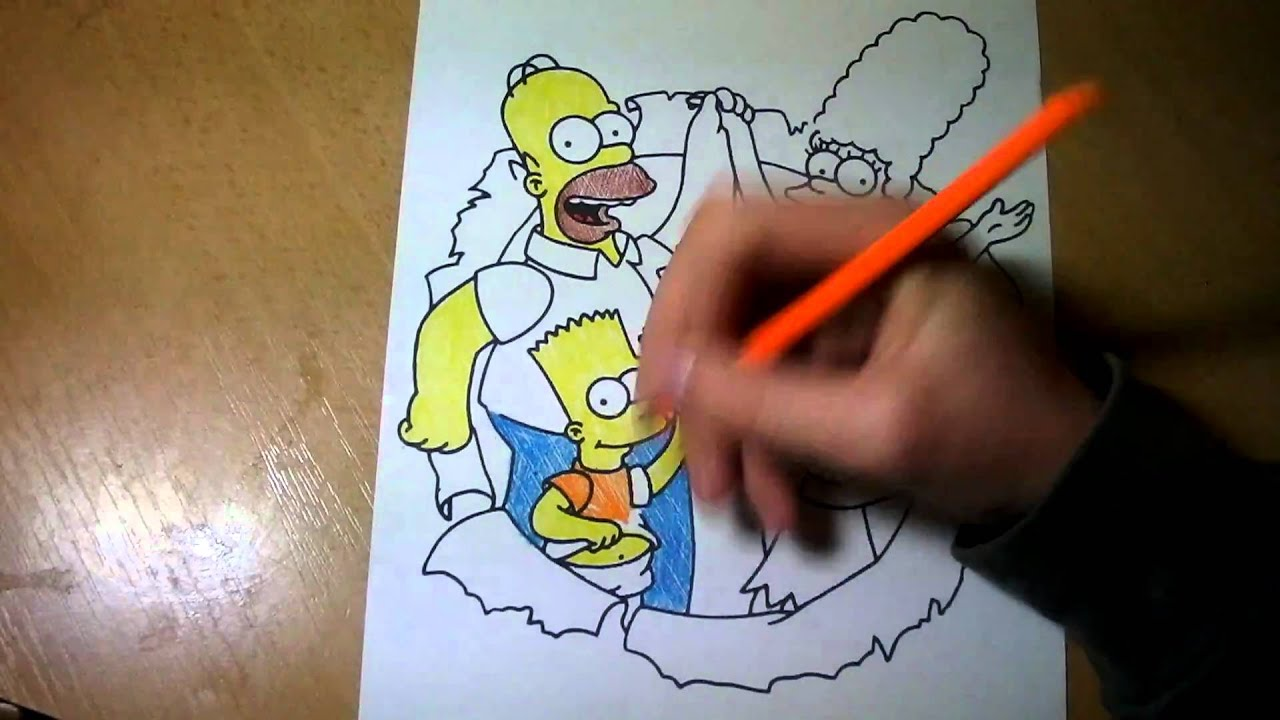 The Simpsons Simpsonovi Omalovanky Time Lapse I