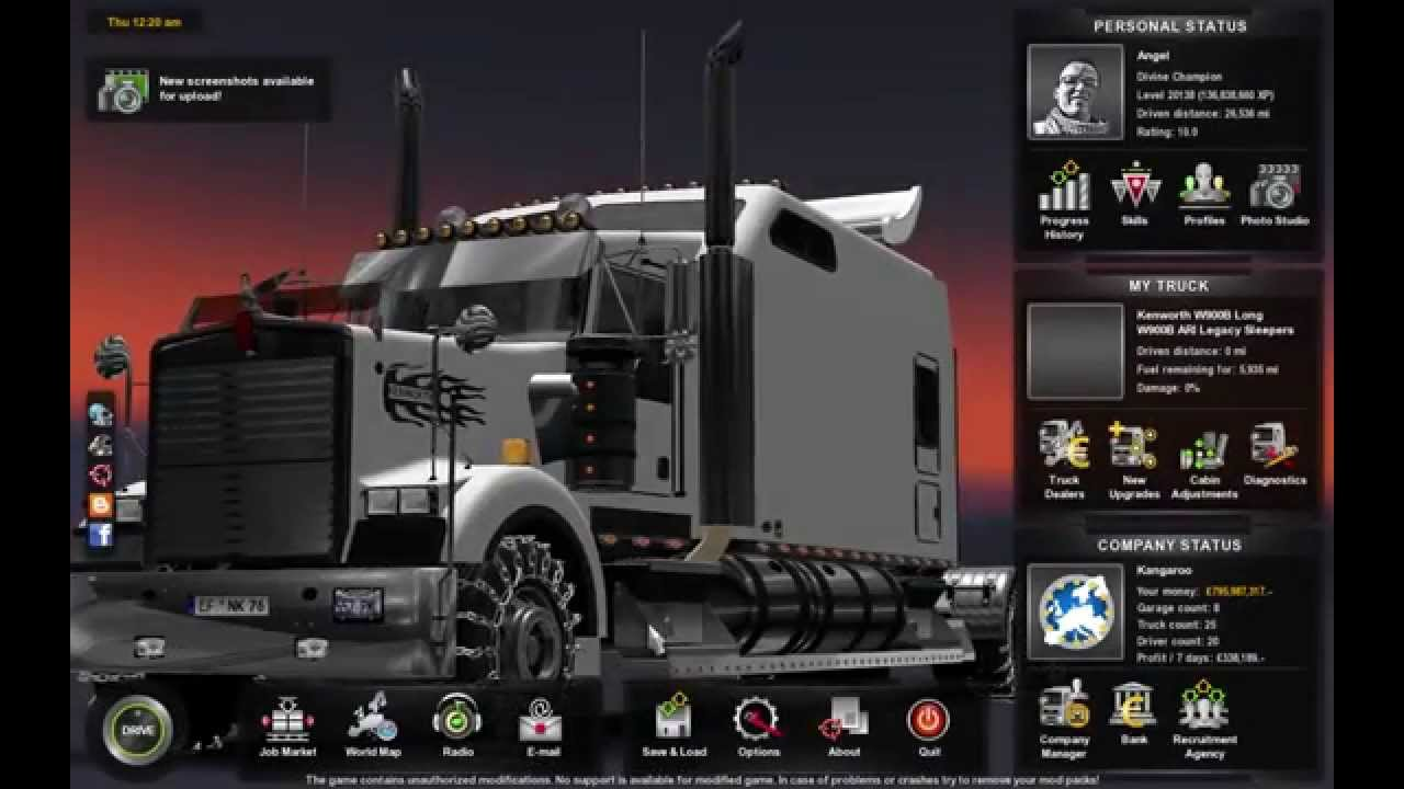 Review of the kenworth w900b long and eastern express map euro truck simulator 2 episode 1