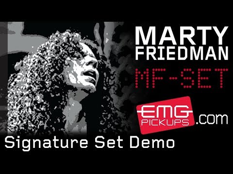 Marty Friedman Signature Pickup Set Demo