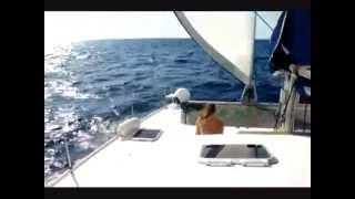 Catamaran zeilen Elafiti Eilanden Dubrovnik Kroatie Adriatic Vakanties