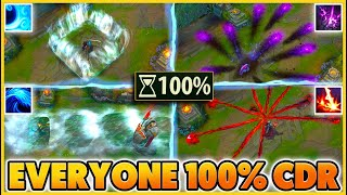 EVERYONE IN THE GAME HAS 100% CDR (BEST GAME EVER!!) - BunnyFuFuu | League of Legends