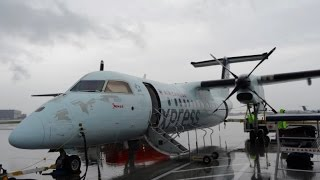 Air Canada Jazz Montreal to Quebec Dash 8-301 Economy class [Full HD]