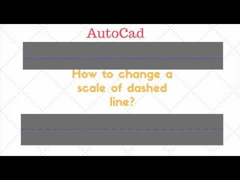 AutoCad How To Change A Scale Of A Dashed Line ? ( 1 Minute Tutorial)
