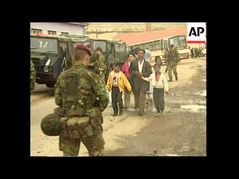 KOSOVO: NATO TROOPS CONTINUE TO ARRIVE AT PRISTINA