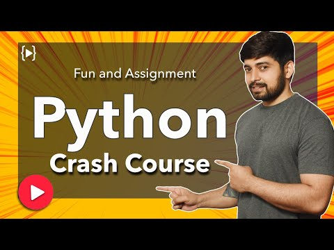 Python crash course | easy way | with assignment