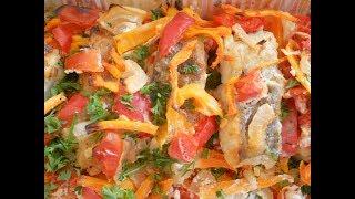 Хек с овощами запеченный в духовке. Как приготовить свежемороженую рыбу.