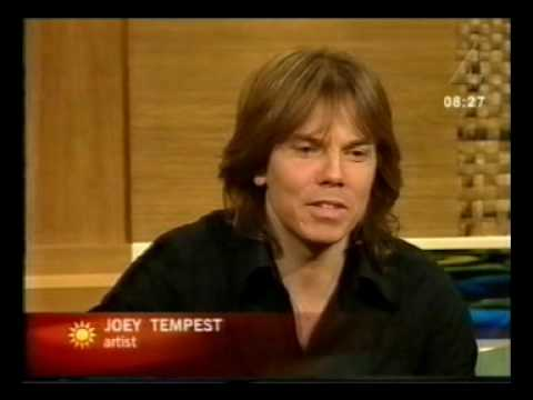 Joey Tempest on Swedish TV at Nyhetsmorgon in 2002, part 2 - interview