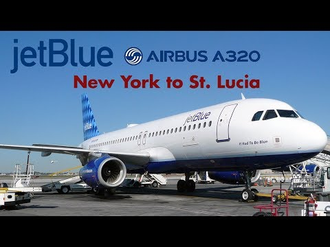 Jetblue Airways - Airbus A320 FULL FLIGHT EXPERIENCE/FLIGHT REPORT JFK-St. Lucia (1080p HD)