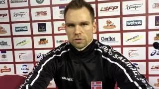 Thomas Stræte 75 landskamper i kampen mot Slovakia - Norge til kvartfinalen i VM for menn i Riga