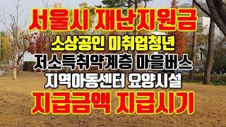 서울시 재난지원금(소상공인, 저소득취약계층, 미취업청년…
