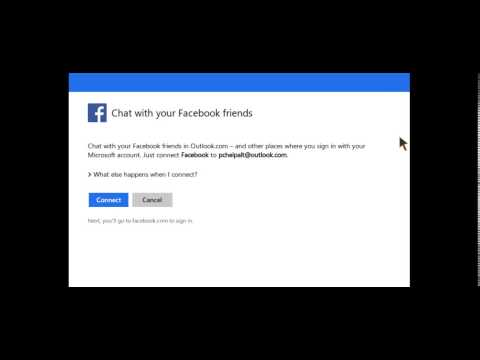How To - Connect Facebook To Outlook