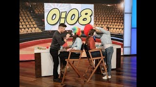 Colin Farrell and Ellen Clown Around with Audience Members