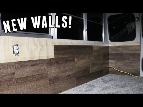 Adventure Bus Build Pt 6 - Building New Walls with Insulation & Wiring!