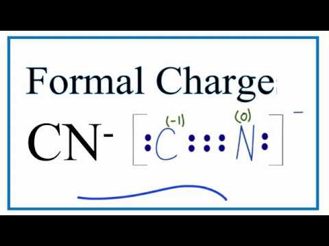 how to calculate the formal charges for cn- (cynide ion)